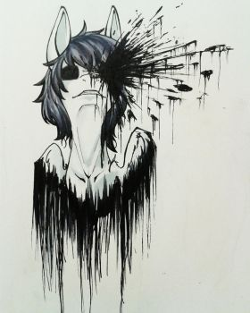 Battered with Ink by WhiteNoiseGhost
