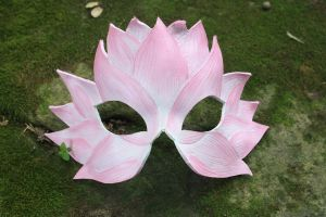 Light pink lotus mask by SilverCicada