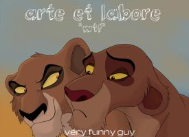 arte et labore- comic cover (WTF?) by Veryfunnyguy
