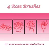 Lineart Rose Brushes by serunisavana