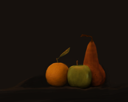 fruit study by VeryHapppyPanda