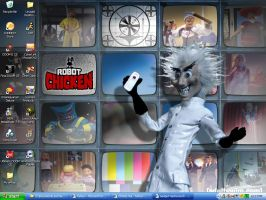 Robot Chicken Desktop by scoots