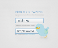 PostYourTwitter.com design by jackinnes