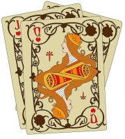 Art Nouveau Playing Cards by crumplesilken