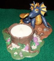Dragon candle holder 2 by ladytech
