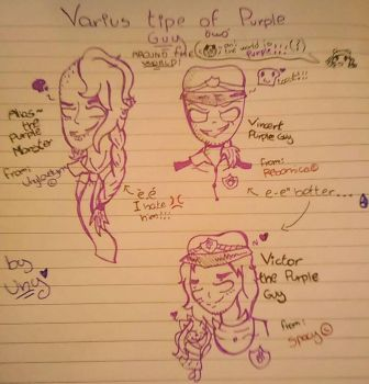 Varius type of the Purple guy  by UnyloveLynx