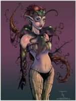 RoseVine Lady :Anthro Contest: by LindaLisa