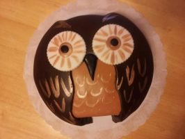 Owl cake by Cupcake-Killer