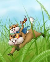 PMD-E - Dashing through the grass by demiveemon