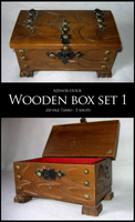 Wooden Box Set 1 by Azenor-stock