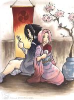 Sasuke an Sakura for sora ko by sw