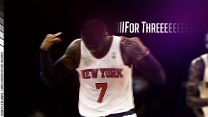 Carmelo Anthony For Three Wallpaper by EsegaGraphic
