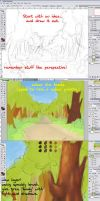 Woods path BG Tutorial -tree by DarkDragon774