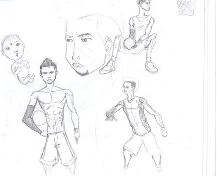 diantes basketball sketch by MikedaPrez