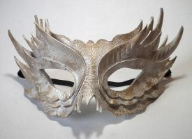 White Feather Mask by Shadows-Ink