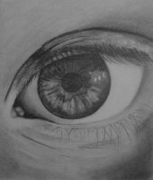 Eye pencil drawing by eightdaysearly