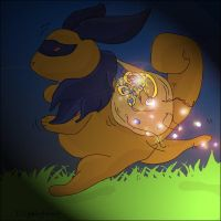 Neopets - Shadow Cybunny by stolenspirit