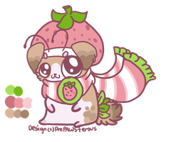 Strawberry Dog-hamster-thing by PrePAWSterous