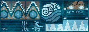 Legend of Korra Banner - Korra by Marissa-Meza
