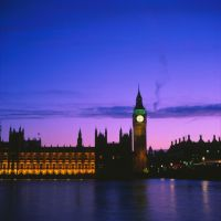 Westminster, Sunset II by acidfast
