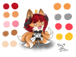 Art Challenge 4 - Cute Kitsune Aki by HirokoTheHedgehog