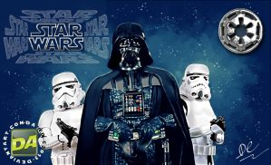 Darth Vader with Stormtroopers by David-c2011