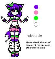 Raver Fox Adoptable CLOSED by Soryko