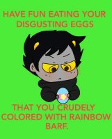 Karkat's Easter by Cheezit1x1
