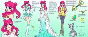 Sailor Moon OC Ref Sheet: Viola by Sailor-Serenity