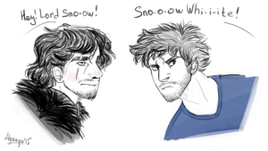 Lord Snow and Snow White by Mganga-The-Lion