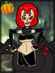 #HalloweenMonsterGirls - Arachne  by theEyZmaster