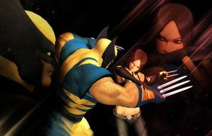 Laura vs Logan (Another angle) by kirateufel