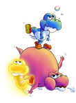 Baby Yoshi : Massive Super Mario Collab by Kanis-Major