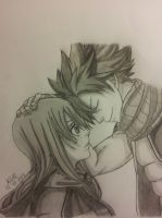 FINISHED: Natsu and Future Lucy - Fairy Tail by kerushiidesu