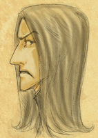 Prof. Snape by Chancc