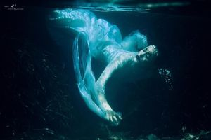And then she passed away in the deep blue sea by LisaDenise