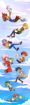 Digimon 15th Anniversary by AderiAsha