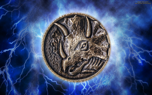 New MMPR HD Power Coin Wallpaper (Blue) by RussJericho23