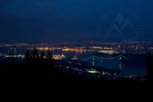 Vancouver at Night by lndscps-and-hghlghts