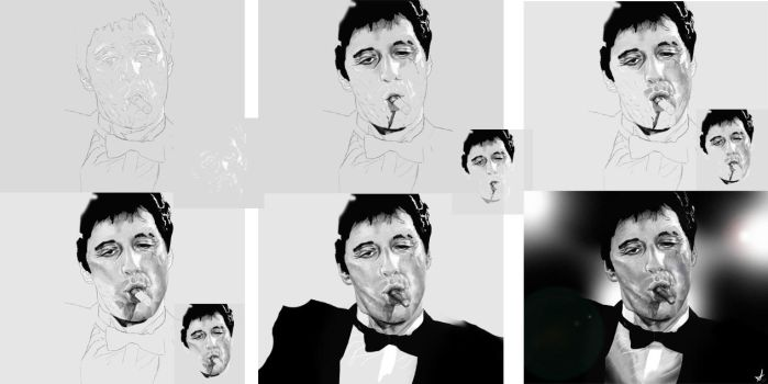 Scarface- Tony Montana WIPS by DookieAdz