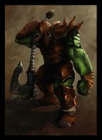 Orc Warrior by CorruptRecluse