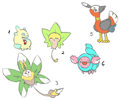 fakemon sketches by bellpup
