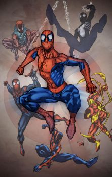 Spidermen_by_RobertAtkins_Colored by comicero