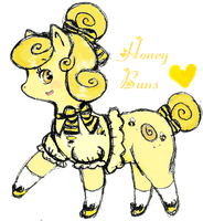 MLP OC: Honey Buns by Mama-Tama