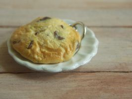 Polymer Clay Chocolate Chip Cookie by ThingSoSweet