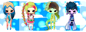 Funky Haired Adopts ::OPEN:: by Natalie4ever