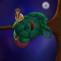 Watermelon Snake (Art Trade) by CannibalHarpy
