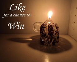 Facebook like to win oillamp by Bendzunas-Glass