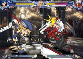 blazblue funny fight by Rud-K