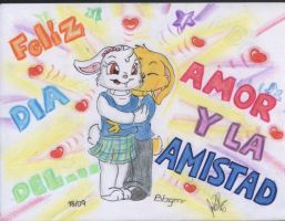 dia amor amistad color by davidcool1989